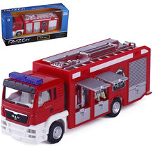 Lightning selling Cars 2 Red Firetruck Deluxe Fire Truck Metal Toy Car Loose Diecast 1:64 for Kids Children(China)