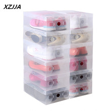 XZJJA Multifunction Plastic Shoe Box Transparent Crystal Storage Shoebox Household DIY clamshell shoebox Storage box