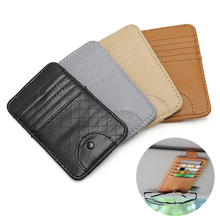 Car Auto Sun Visor Point Pocket Organizer Pouch Bag Card Glasses Storage Holder Drop shipping(China)