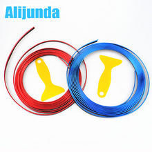 5 m Car Grille Inner Outer Profiles Trim Decorative Ribbon Line for Skoda Octavia Fabia Rapid Superb Yeti Roomster