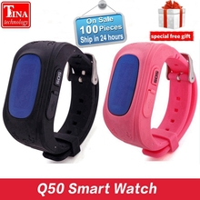 Anti Lost Q50 OLED Child GPS Tracker SOS Smart Monitoring Positioning Phone Kids GPS Watch Compatible IOS & Android VS Xiaomi(China)
