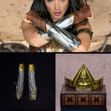 1:6 Scale Action Figure Halloween Cosplay Accessories Wonder Woman Arm Bracers Gauntlet Cuffs+Headband Crown Set for 12'' Body