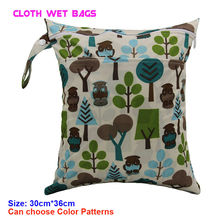 Pattern Printed Nappy Insert Organizer Bag with 2 pocket Waterproof Swimmer Bikini Bag Baby Diaper Wet Bags for mum