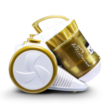 Household Dry Vacuum Cleaner Low Noise Hand-held Mini Cleaning Machine with Multifuntional Combined Brush for Acaricidal Golden
