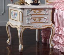Luxury Style Bedside Table With Handmade Carving(China)