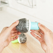Kitchen Stainless Steel Wire Ball Cleaner Strong Cleaning For Washing Dishes Pan Brand New And High Quality