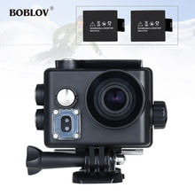 "BOBLOV 2.0"" 4K LCD 16MP HD WiFi Sports Helmet Camera HDMI USB Waterproof  Video  Action Camcorder  w/2 Battery 1000mAh"