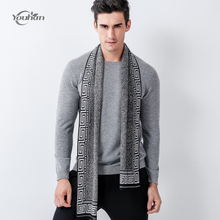 YOUHAN 2017 Man Scarf Wool Plaid Winter Bussiness Brand Scarf Men Scraf Fashion Designer Shawl Casual Scarves 5 Colour(China)