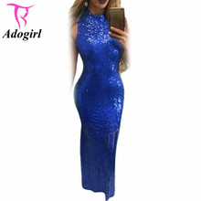 Buy Luxury Dress Green/Black/Royal Blue Women Backless Sexy Dresses Ladies Vintage Dresses Sequined Formal Party Wear Robe De Soiree for $28.99 in AliExpress store