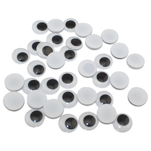 CCINEE 500PC 5/6/7/8/10mm Total Mixed Googly Doll Eyes Not Self-adhesive DIY Scrapbooking for Teddy Bear Stuffed Toy Doll Parts