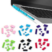 2017 New 9pcs Silicone Anti Dust Plug Ports Cover Set Dustproof For Laptop Macbook Pro 13 15 usb dust plug Computer Accessories