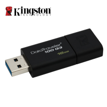 Kingston USB Flash Drives DT100G3 USB 3.0 Pendrive 64GB 32GB 16GB Pen Drive Plastic Sleek Memory Stick 100% Original(China)