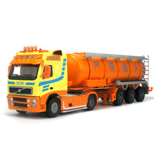 Favorite Model Alloy tanker truck,High-grade 1:50 alloy tanker cars,Diecast metal truck,Senior gift