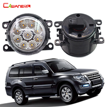 Cawanerl 2 Pieces Car Light LED Daytime Running Light Fog Lamp DRL 12V For Mitsubishi Pajero 4/IV Van V80 V90 Box 2007-2015