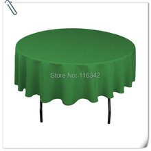Big Discount !!! 70INCH Green 20pcs polyester round tablecloth Free Shipping factory price MARIOUS(China)
