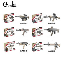 GonLeI 60set/lot World War 2 WW2  Army Military Soldiers Guns AK47 M4 AKM M16 Building Bricks Blocks DIY Bricks Kids Toys