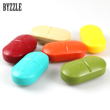 6 Slots Portable Pill Box Medicine Case Medicine Case Drug Pill Case Cute rectangle Shaped Pill Splitters Cases