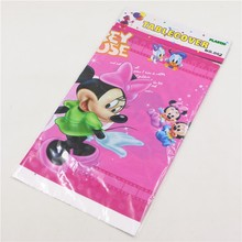 2pc Kids Favors Cartoon Minnie pink Tablecloth Cartoon Theme Tablecover Map Happy Birthday Party Decoration Supplies Baby Shower