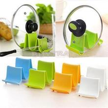 1PCS Plastic Pot Pan Cover Stand Kitchen Pot Pan Cover Lid Shell Stand Shelf Holder Rack Random Color Simple &Practical