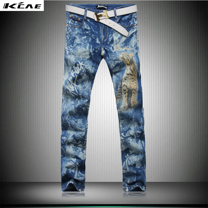 High Quality 3D Printed Jeans Men Fashion Denim Mens Jeans 2017 New Skinny Jeans Casual Men ClothingОдежда и ак�е��уары<br><br><br>Aliexpress