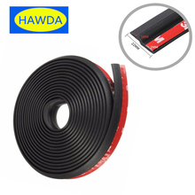 HAWDA 4Meter Z type 3M car door rubber seal Sound Insulation , car door sealing strip weatherstrip edge trim noise insulation(China)