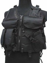 SWAT Airsoft Combat Tactical Military uniform Assault Vest Black(China)