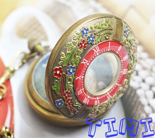 New Design Two Cover Tourbilon MoonPhase Pocket Watch  brass<br>