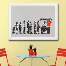 Mklql Banksy Destroy capitalism, 2006 Graffiti Art Canvas Painting For Living Room Home Decor Oil Painting On Canvas No Framed(China)