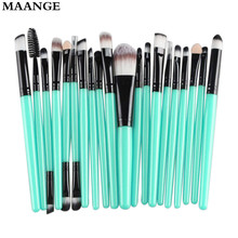 20 pcs Makeup brushes sets professional eyebrow Blusher foundation hair brush pen Cosmetics toothbrush oval make up brushes Tool