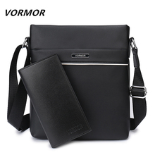 VORMOR Famous Brand Casual Men Bag Business Leather Men Messenger Bags Vintage Shoulder Crossbody Bag For Male DropShipping(China)