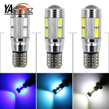 2017 Car led 2pcs Super Quality T10 LED 10 SMD 5730 Error 194 168 W5W Universal T10 LED Canbus Car led light parking shipping