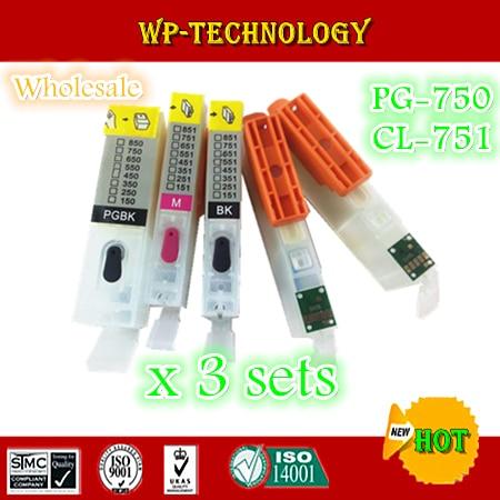 15PK=3 sets Empty Refill cartridge suit for PGI750 CLI751 ,suit for Canon PIXMA IP7270 MG5470 NX927 ,5 color<br><br>Aliexpress