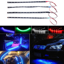 1pcs/10pcs Waterproof 15 LED 30cm Car Styling super waterproof flexible Car Light Daytime Running Lights  DRL Soft Strips