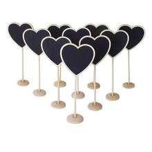 10pcs/Lot Retangle Mini Blackboard Chalkboard Wordpad Message Board Holder Clip On A Stick Stand Wedding Table Decoration(China)