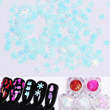 1 Box Shining Nail Art Glitter Sequins Rabbit Penguin Snowflake Nail Sequins 3D Nail Art Decoration(China)