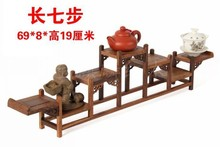 Wholesale Chinese style chicken wing wood furniture mahogany wood curio shelf Shelf antique frame