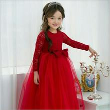 High Quality Girls Princess Dress Christmas Girl Dress Fashion Elegant Princess Party Dresses Pink Red Childrens Clothes