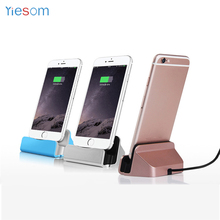 YIESOM Dock Charger Sync Data Station Charging Desktop Cradle Stand with USB Cable for iPhone 8 7 6 6S Plus 5S for Android Phone(China)
