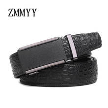 [ZMMYY] 2017 High quality designer classic gold silver black automatic buckle crocodil belts genuine leather belts for men