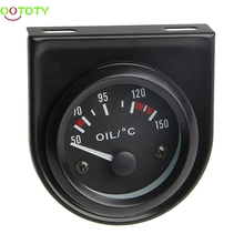"2"" 52mm LED Light Car Universal Pointer Oil Temperature Temp Gauge 50-150C(China)"
