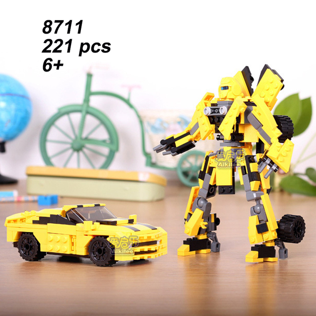 8711 2 In 1 Hornet King Kong Transform Robot Car Building Block Boy Creative Toy Gift for Children Compatible