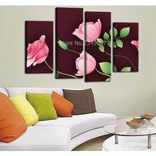 Modern Wall Art Pink Rose Decorative Pictures High Definition Print On Canvas Waterproof Wall Pictures Spray Painting Unfromed(China)