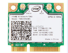 Ssea новый для Intel Беспроводной-n 7260 7260 hmwbn 802.11bgn Половина Mini pci-e WI-FI Bluetooth4.0 карты для Acer/ ASUS/Samsung/toshiba(China)