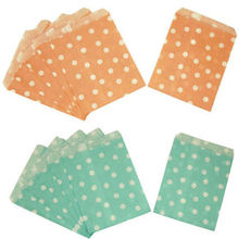 25pcs/lot Mini Polka Dot Paper Bags Popcorn Bags Party Food Paper Bag Wedding Birthday Party Supplies 13x18cm
