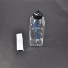 1pcs Transpartent Plastic Fuel Tank High Quality Oil Box 410ml For 30-40CC Gasoline Nitro RC Model