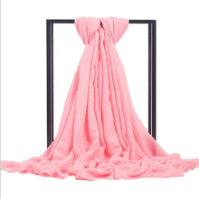 Hot New Pink Women Cotton Shawls Scarves Brand Fashion Wrap Ladies Spring Autumn Muffler Solid Color Bufanda Chal 011805(China)