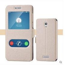 Free shipping for Highscreen Power Five Pro protective PU leather silk pattern mobile phone Case Cover 5colors