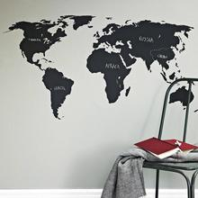HOT 200x90cm Big Global World Map Vinyl Wall Art Decal Sticker home decor wall sticker for office school classroom wall art