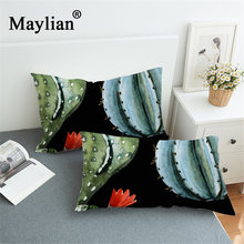 New black cactus home textile bedding pillowcase 3D printing Plants Pillow Case Covers PC68(China)