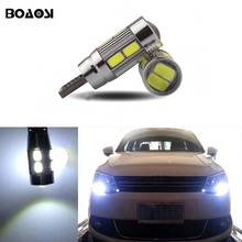 BOAOSI For hyundai mazda peugeot Ford focus fiesta mondeo Canbus Led T10 W5W 5630SMD Front Side Maker Light Bulb 1pc